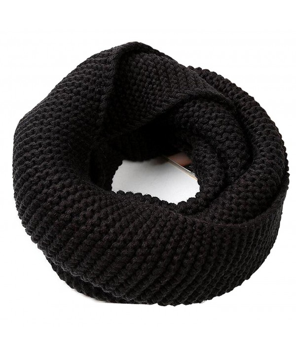 1PCS Winter Warm Knitted Thicken Neckerchief -Neck Warmer Scarf Soft Shawl - Black - CL186LLLTU5