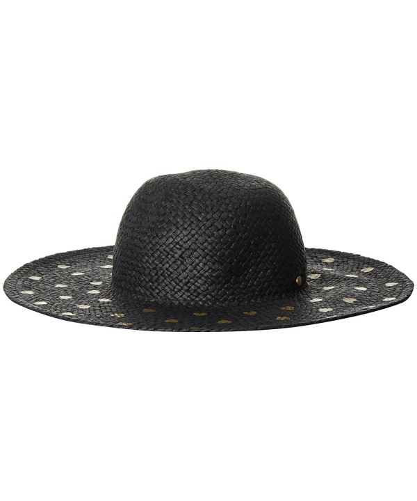 BCBGeneration Women's Heart Of Gold Floppy Hat - Black - CZ11JH6S2J1