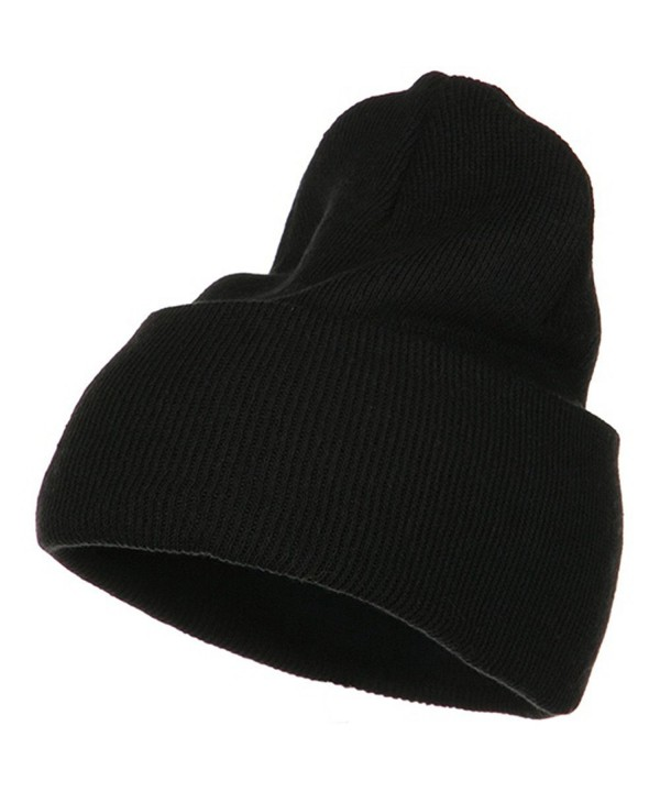 Stretch ECO Cotton Long Beanie - Black - CI1156XI8MF