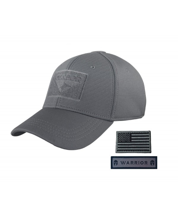 Condor Flex Tactical Cap (Large/Extra Large- Graphite) with USA Flag Hook and Loop Patch (Foliage/Black) - CC12CZ14KA3