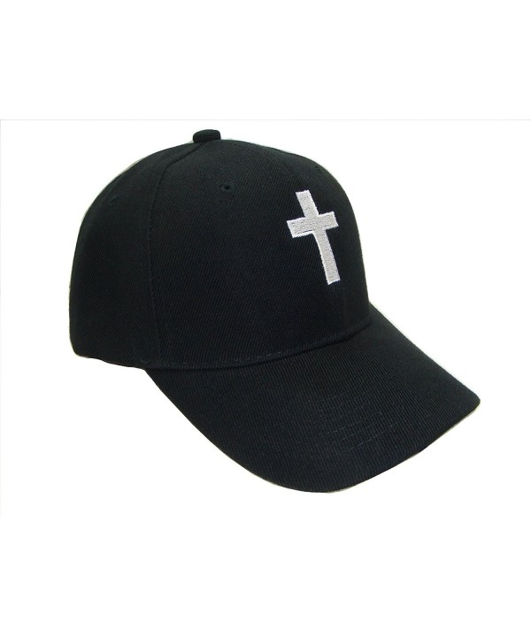 THS Christian Cross Religious Theme Baseball Cap (One Size- Black/White) - CS125CBGTGR