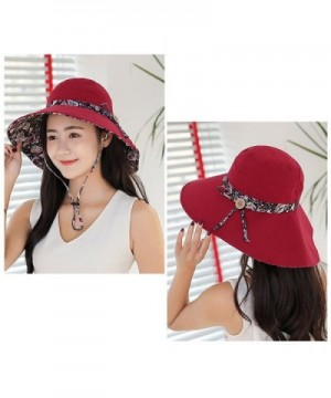 Womens Summer Reversible Beach Foldable in Women's Sun Hats