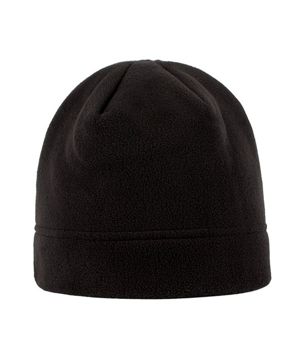 Heat Logic Beanie For Men - Super Soft Insulated Fleece Beanie Hat - Black - C212J6ZDH01