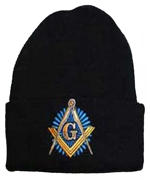 Buy Caps and Hats Masonic Winter Skull Cap Beanie Freemason Mens One Size Black - C811H9BHHXD