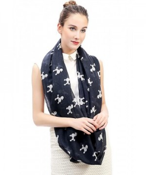 Lina Lily Infinity Lightweight White L in Fashion Scarves