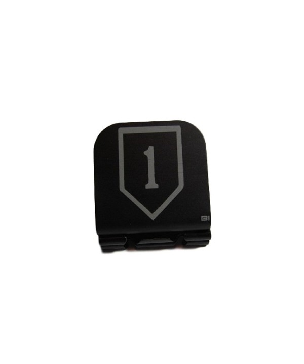1st Infantry Division Patch Laser Etched Hat Clip Black - C812GDBRFXV