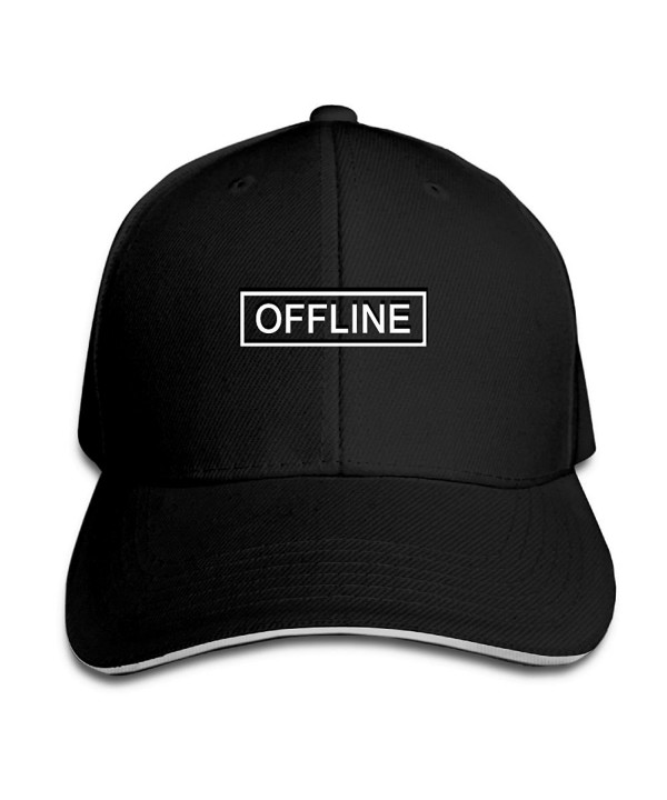 Nice Liza Offline KOS Caps Baseball Caps Adjustable Hats - Black - CI1897IE7Y8