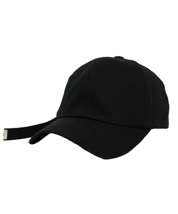 Unisex Long Tail Strapback Womens Mens Baseball Cap Adjustable Size K-Pop Hip Hop Hat Trucker (Black) - CT182EA2ESU