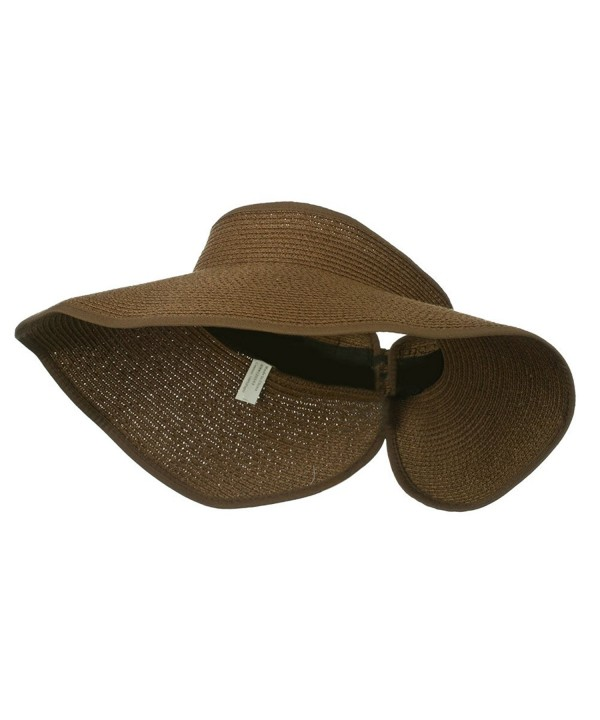 UPF 50+ Bow Closure Roll Up Visor - Brown W39S33D - CY11E8U738R