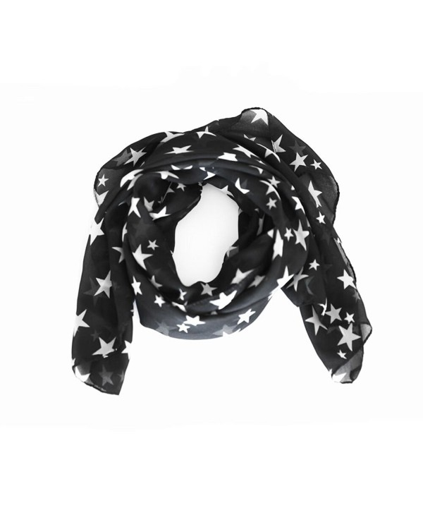 arssilee Fashion Beautiful Warm Star Pattern Scarf Shawl - C312N7F44V8