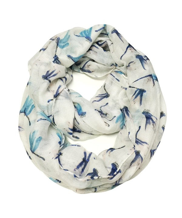 Wrapables Dragonfly Infinity Scarf - White - CS11VJOTEYL