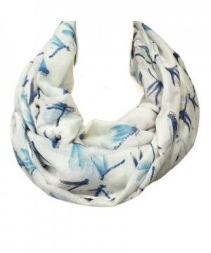 Wrapables Dragonfly Infinity Scarf White in Fashion Scarves
