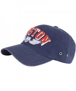 RaOn B163 BOSTON Pattern Logo Fashion Sports Design Ball Cap Baseball Hat Truckers - Navy - CQ183CK2YH6