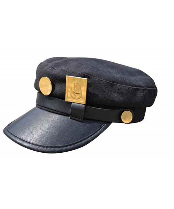 GEANBAYE Cosplay Real type and Taro Kujojo Bizarre Adventure Jotaro Kujo of Jojo wind hat - Black - C71850QLLQT
