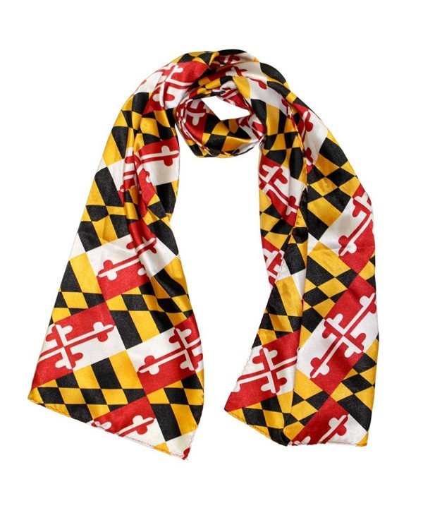 Route One Apparel  Silk Maryland Flag Scarf - CB120RRO887