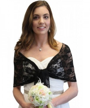 Black Lace Bridal Wedding Stole