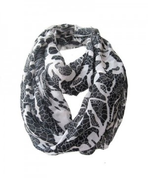 LerBen Womens Retro Soft Chiffon Loop Infinity Scarf Wave Snood Wrap Scarves - Black - CD12305P6WZ