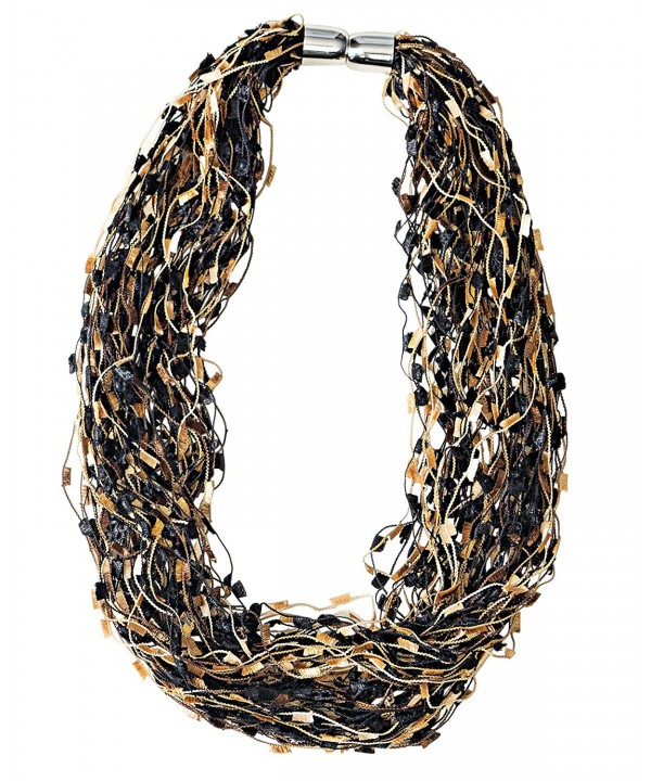 Renshun Accessories Confetti Magnetic Necklace Scarf - Tan - CL185AHRY7C