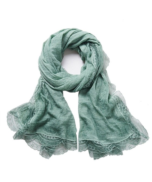 Jeffy & Retro Women's Cotton Scarves - Green - C6184OLTXCX