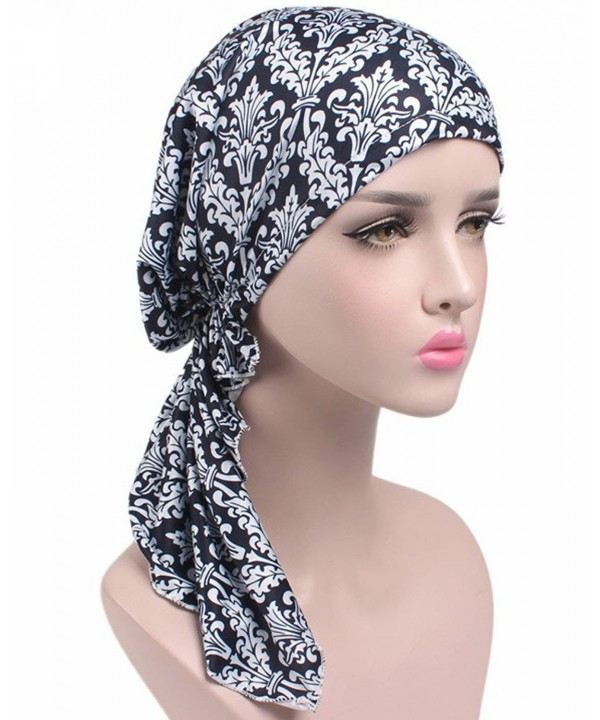BingHang Women's Breathable Floral Turban Cap Chemo Cancer Beanie Cap Nightcap - 2 - CE185W6W0DU