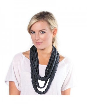 BANDED- Layers Inifinity Scarf Wrap - Iron - CS12E04OZQ3