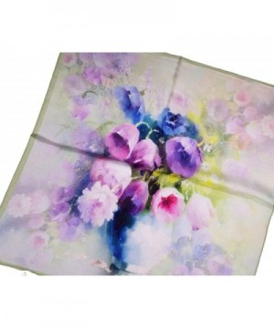 Green Flower Printed Thick Square in Fashion Scarves