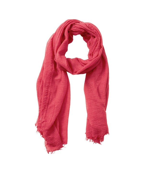 "Tickled Pink Classic Soft Solid Stylish Long Lightweight Pashmina-Like Cotton Blend Scarf 38 x 70"" - Coral - CD184WG7CIE"