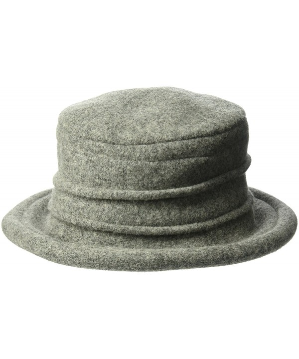Scala Wool Cloche Hat by Dorfman Pacific-Grey - C6119XDTZ9T