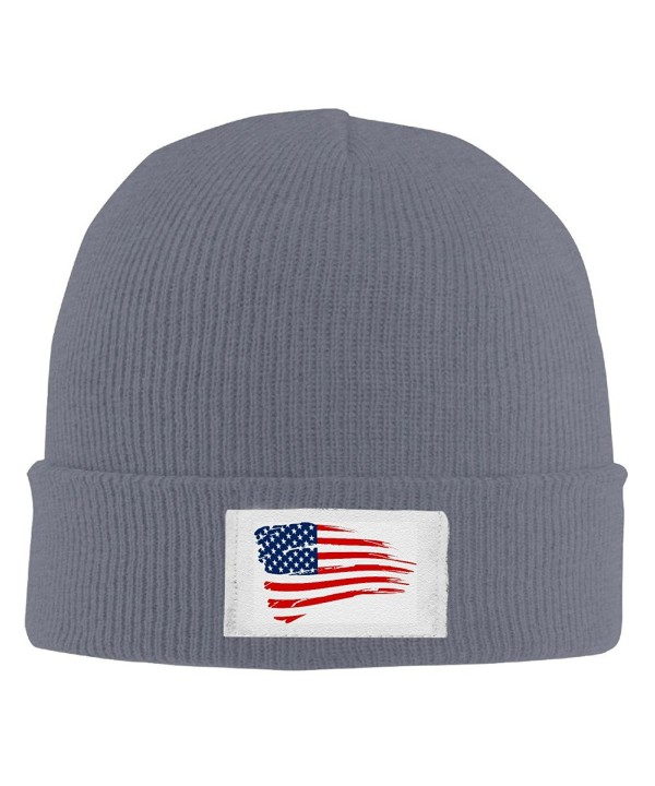 American Flag Print 2016 Cool Winter 2016 Hats - Asphalt - CX12L2R2THD