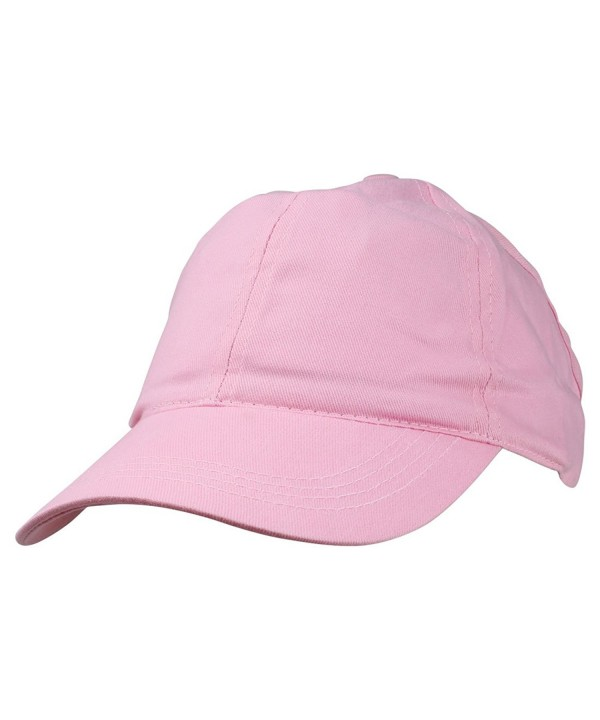 Ladies Ponytail Cap Womens Half Visor with Adjustable Elastic Band - Pink - CR119512SJN