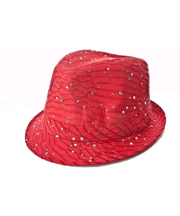 Sparkle Glitter Fedora / Red / Red Hat Lady Society - C8112RT4W0D