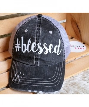 Loaded Lids Blessed Distressed Baseball in Women's Baseball Caps