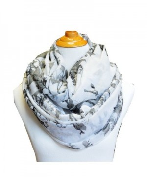 SCARF_TRADINGINC Floral Light Weight X-large Infinity Scarf - Rosa White - C311WS1JLLP