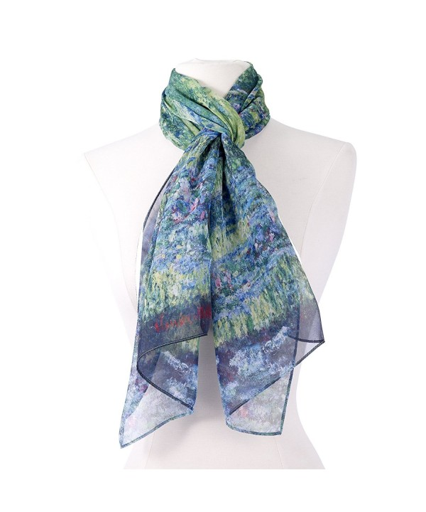 Galleria Monet Japanese Bridge Scarf - C412O5C4V17