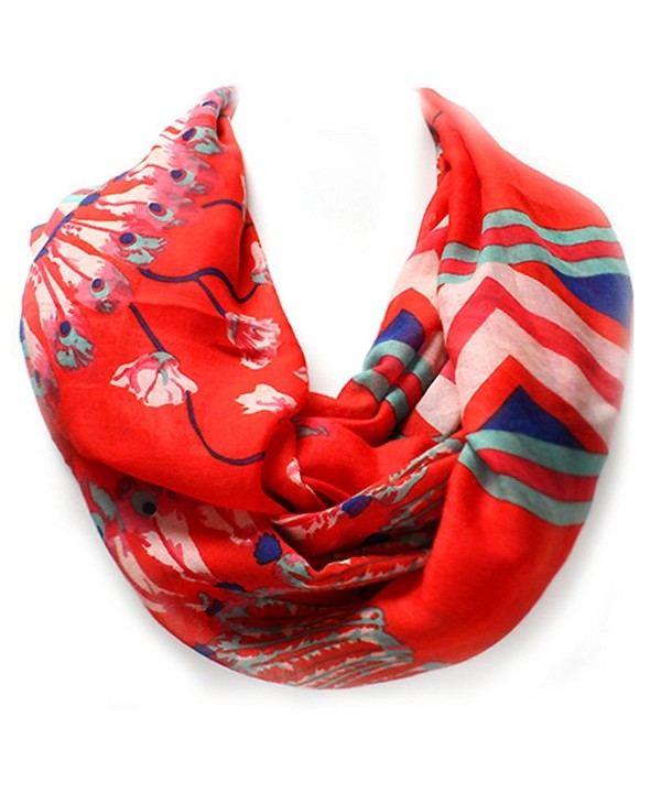 Feather Western Infinity WYO HORSE Collection - Coral/Red - CO184Y6QHZA