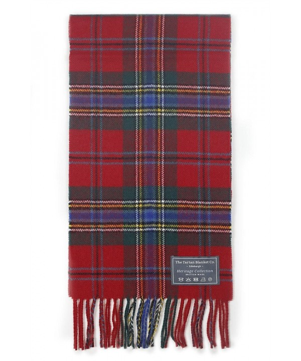The Tartan Blanket Co. Scottish Lambswool Scarf Maclean of Duart Tartan - CN12E187OEX