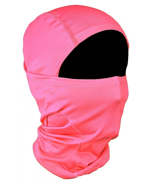 OJORE Balaclava Full Face Ski Mask Tactical Hood Motorcycle Outdoor Sports Pink - C012NVB9IWD
