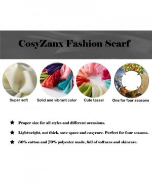 CosyZanx Women Lightweight Fashion Colors in Fashion Scarves
