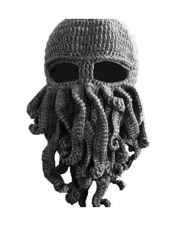AWEIDS Tentacle Octopus Cthulhu Knit Beanie Hat Cap Wind Ski Mask - Gray - CT11VD4U7TD