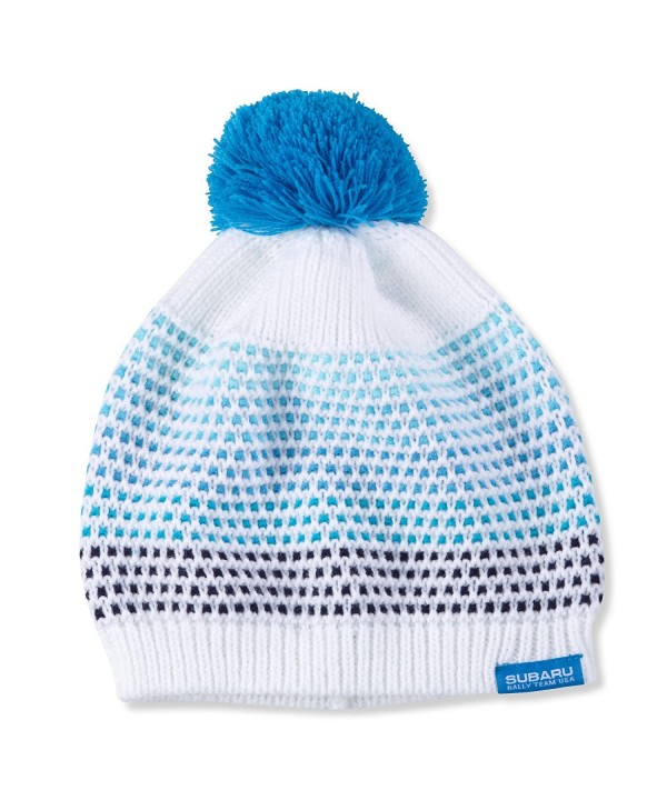 Subaru Genuine Ladies' Pom Pom Beanie Hat Impreza STI WRX Ski Snow Rally Logo - CO12JRB08B5