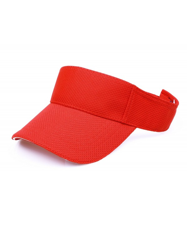 RufNTop Mesh Visor Sport Headband Athletic Sportswear Runing & Outdoor Activities for Unisex Cap - Red - CE18585ZY45