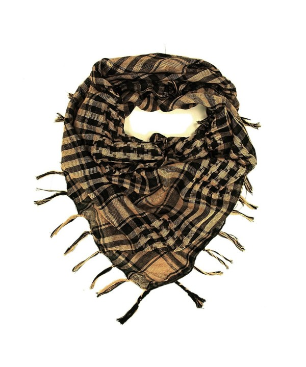 TrendsBlue Trendy Plaid & Houndstooth Check Soft Square Scarf-Diff Colors Avail - Camel & Black - CE1179EAQH3