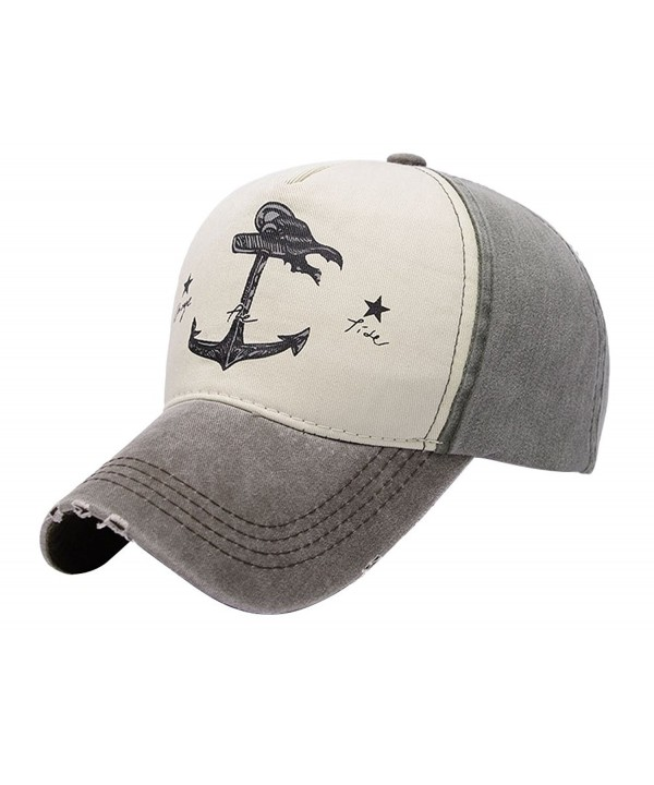 JasWell Men's Vintage Hat Pirate Ships Boat Anchor Adjustable Baseball Cap - Brown & Atrovirens - CO1803SIN72