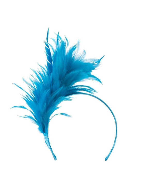 Fancy Feather Fascinator - Turquoise - C111GZA8UZ7