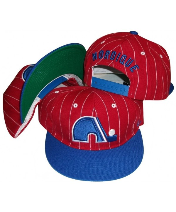 Quebec Nordiques Two Tone Pinstripe Snapback Adjustable Plastic Snap Back Hat / Cap - CJ115LJGA4B