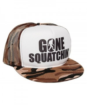 Gone Squatchin' Unisex-Adult One-size Trucker Hat Camo/White - CF11HM9A8WD