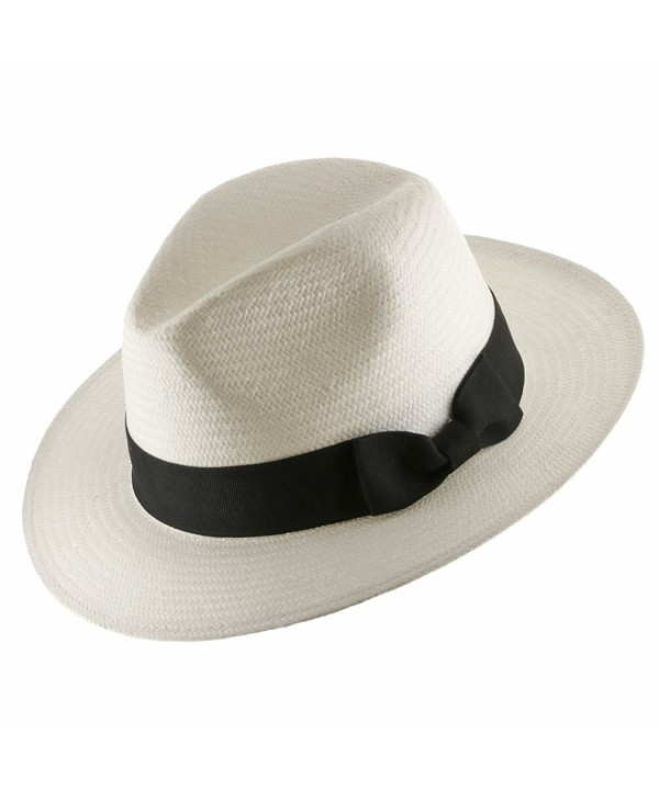Ultrafino Trilby Straw Fedora Panama Hat ALL SIZES - White - CV184IQYKUN