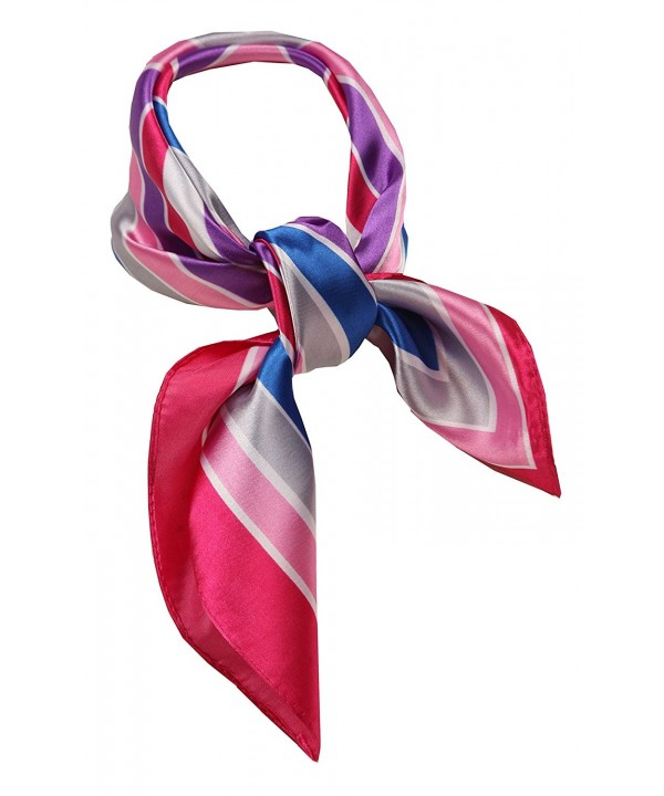 Love Lakeside-Women's Silk Neckerchief Print Square Scarf - Pink Multi - CX126Y3IKD7