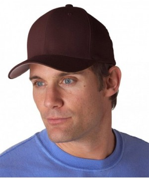 Flexfit Six Panel Mid Crown Twill Blend Cap - Brown - CS12L3IR3P9
