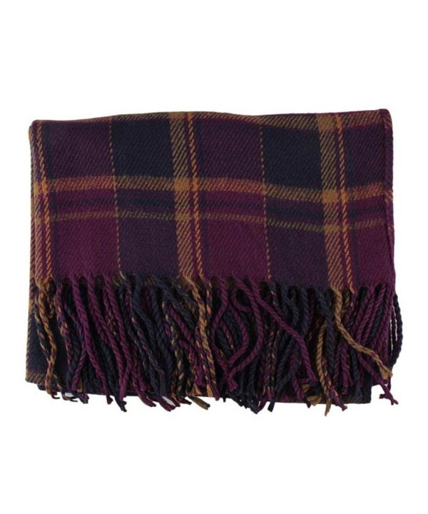 Creazy Fashion Women Winter Infinity Blanket Oversized Shawl Plaid Check Tartan Scarf Wrap - Purple - C4127CG4AT7